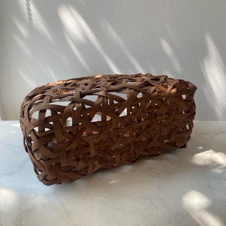 【バッグ】かごバッグ・山ぶどう・こぶ付きみだれ編み №210610㋺