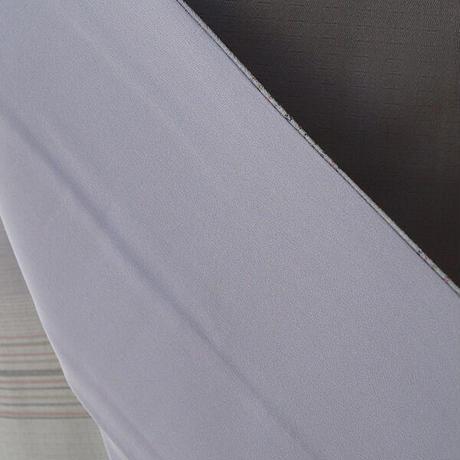 【袷】鼠色 変わり織横段柄 お召