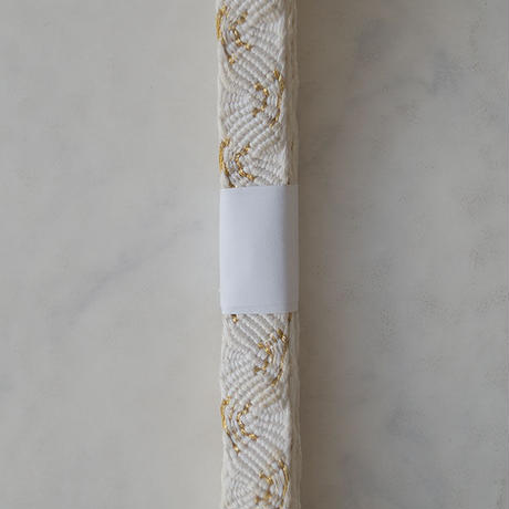 【帯締め】乳白色×金 帯締め No.210430b