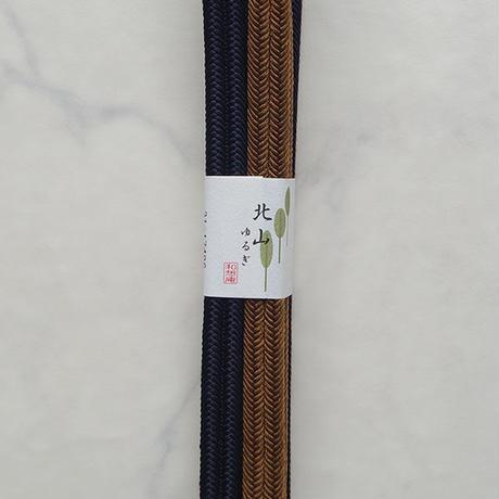 【帯締め】平田紐 冠組帯締め 2トーン 紫紺×柿茶  撚り房 No.210917