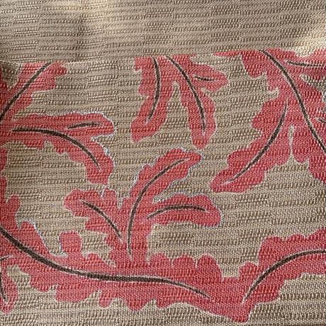S様お取り置き中・【夏なごや帯】榛色地珊瑚色アラベスクなごや帯