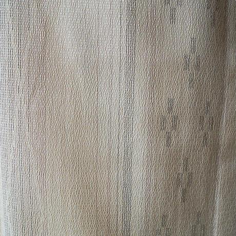 【単衣】アイボリー地絣縞文 塩澤単衣
