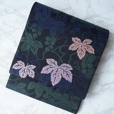 【ふくろ帯】西陣謹製 葡萄紋洒落袋帯