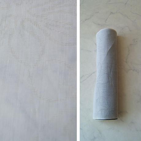 【反物】本麻 花文 紋紗 襦袢地 反物 №210605