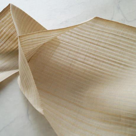 【夏ふくろ帯】生成り地 縞文 小千谷ふくろ帯