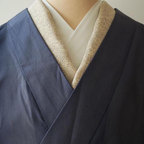 【コート】紺鼠色 無地系暈し 化繊 雨コート