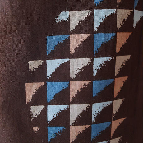 【浴衣】黒檀色 幾何学柄 浴衣 5k3