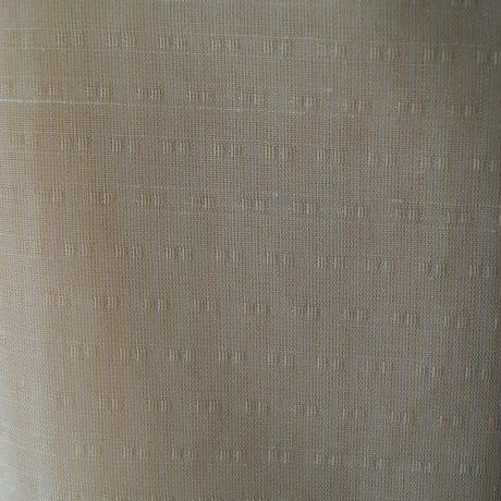 【夏・紬】トールサイズ 淡卵色 無地系 紗紬