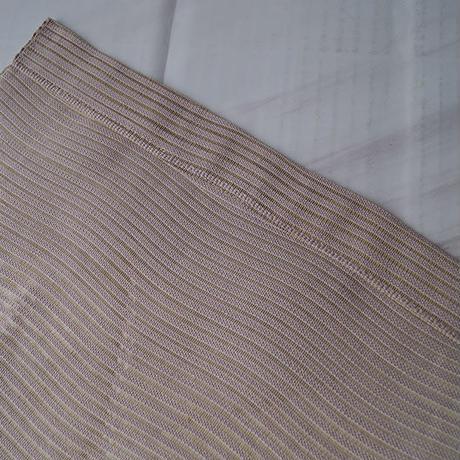 【夏なごや帯】鴇鼠(ときねず)色地 花丸刺繍 絽開きなごや帯