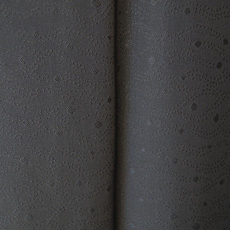 【袷】一つ紋 藤煤竹色無地
