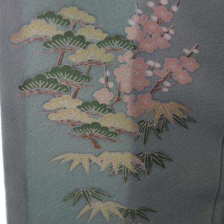 【袷】水浅葱色地 御所文様 色留袖