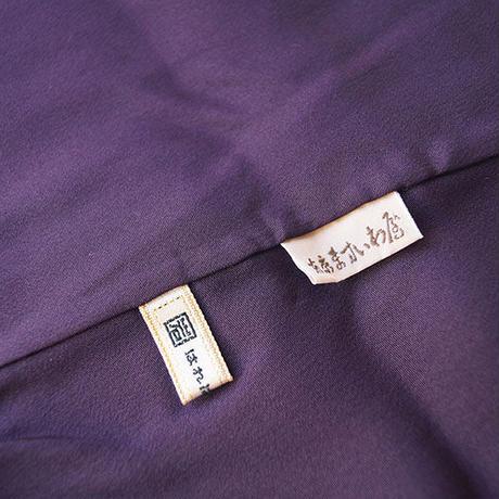 【袷】トール&プラスサイズ 古代紫地 幾何学文 小紋