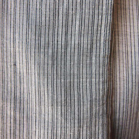 【夏・麻】利休色 細縞 麻きもの