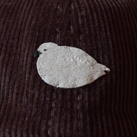 コーデュロイキャップ ライチョウ メス 冬羽×ダークブラウン