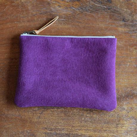 ちりちょうずポーチ 紫 M