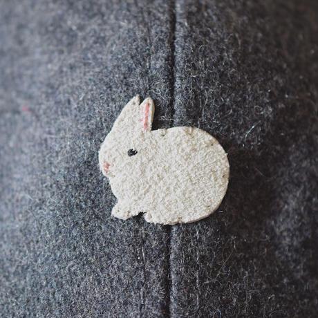 ウールキャップ ウサギ×グレー