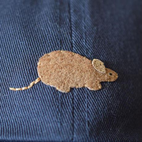 キャップ ネズミ×ネイビー