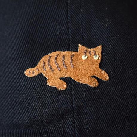 キャップ トラ猫×ブラック