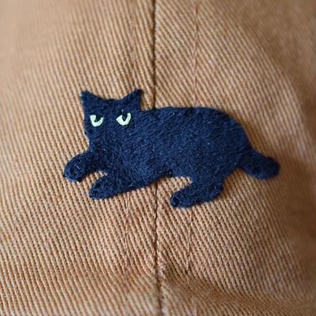 キャップ 黒猫×キャメル