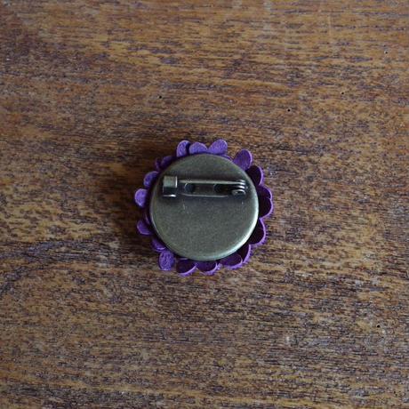 ブローチ あじさい (紫)