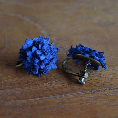 藍染アリウムイヤリング