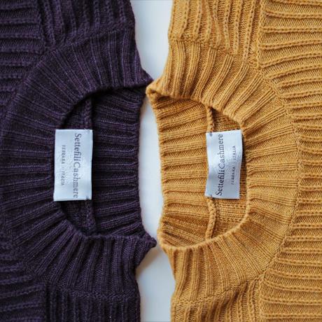 【Settefili Cashmere】bulky mock neck knit