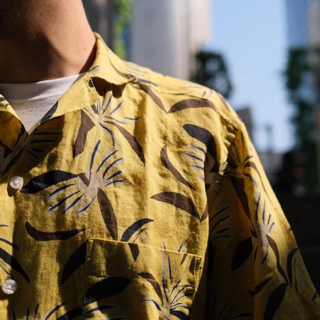 Bagutta  linen print shirts yellow