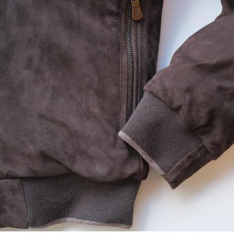 FEDELI leather bomber jacket