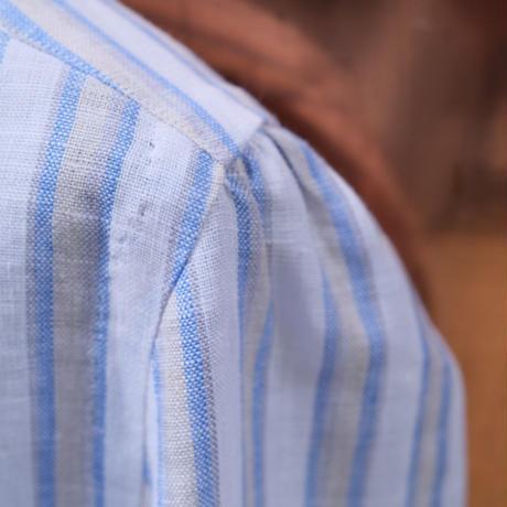 100HANDS linen stripe shits