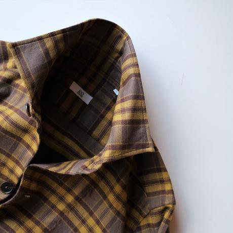 【100HANDS】over shirt  mustard×brown