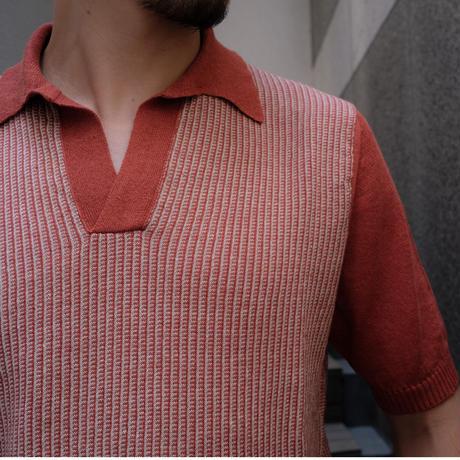 Settefili linen-cotton knit polo
