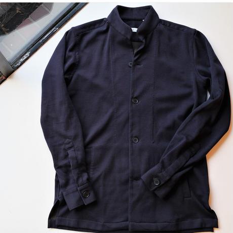 【100HANDS】stand collar blouson navy blue