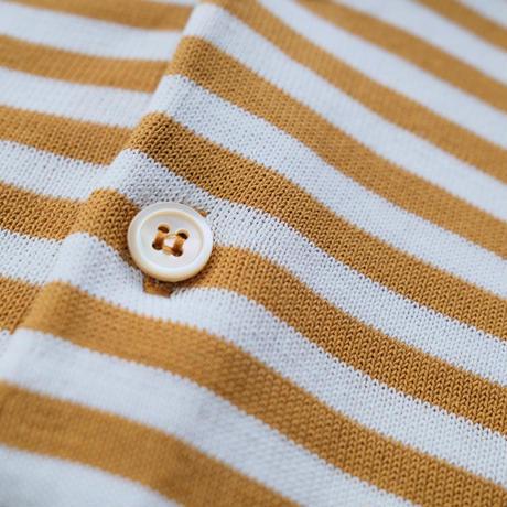 FILIPPO DE LAURENTIIS  border knit polo mustard