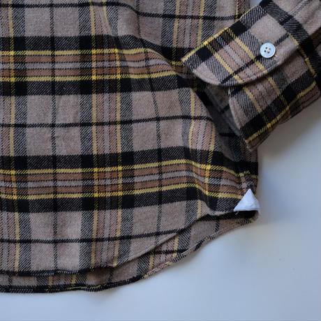【Finamore】check shirt  beige ×yellow