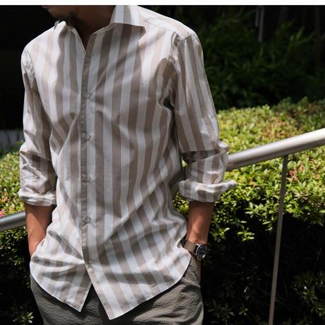 BORRIELLO  cotton wide stripe shirt