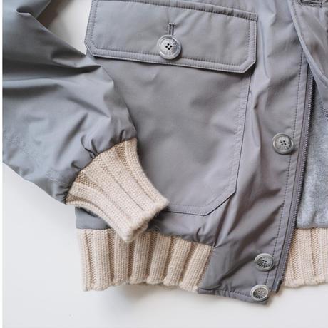 FEDELI  nylon×cashmere  bomber jacket