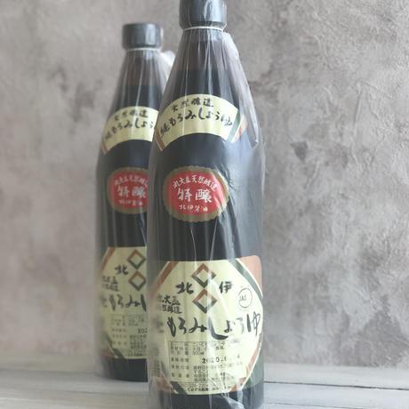 杉樽4年熟成 天然醸造純もろみ醤油「特醸」900ml
