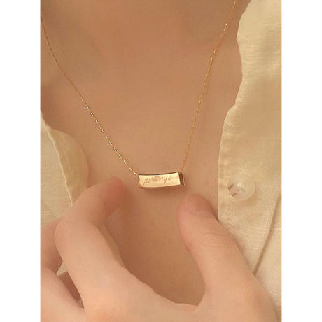 STRAW INITIAL NECKLACE(刻印込)