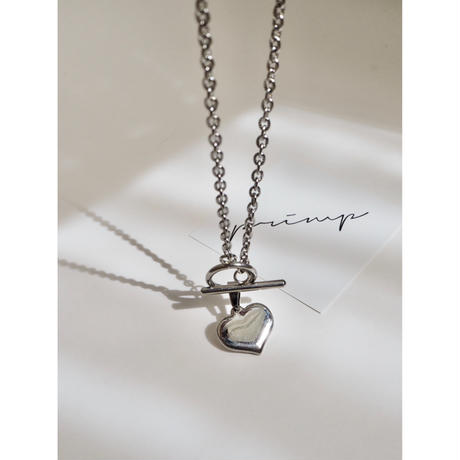 【STAINLESS】HEART MANTEL NECKLACE