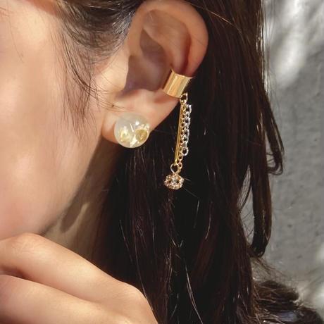 AMEBA  PIERCE EAR CUFF gold