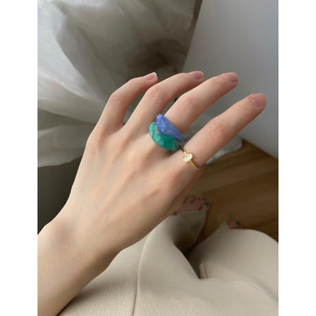 【STAINLESS】AURORA STONE RING