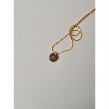 INITIAL PLATE NECKLACE(刻印込)