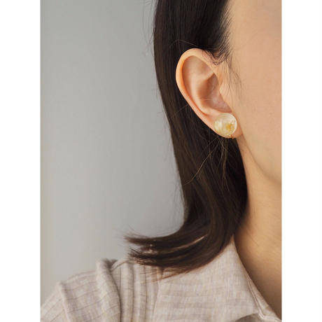 DRY FLOWER  PIERCE & EARRING