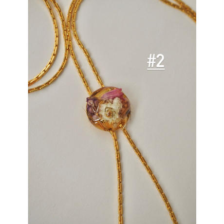 DRY FLOWER  LONG NECKLACE