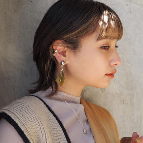 【STAINLESS】BAROQUE PEARL EAR CUFF