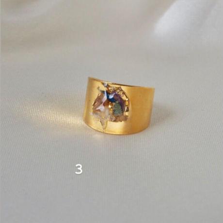 DRY FLOWER RING(gold)