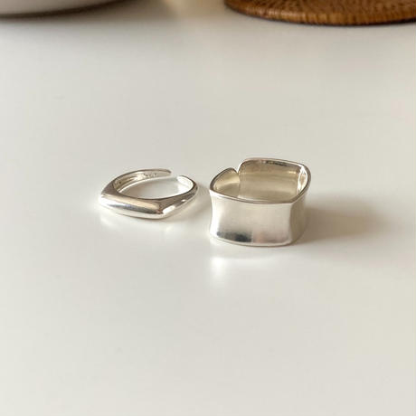 【SILVER 925  】SQUARE SET RING