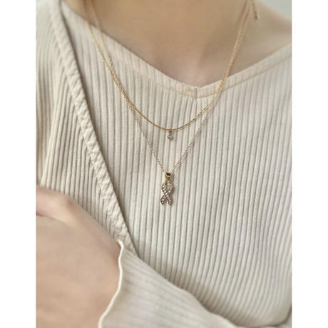 RIBBON KNOT NECKLACE