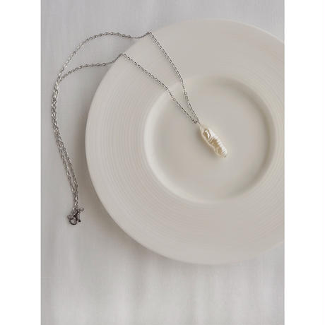 【STAINLESS】PEARL NECKLACE