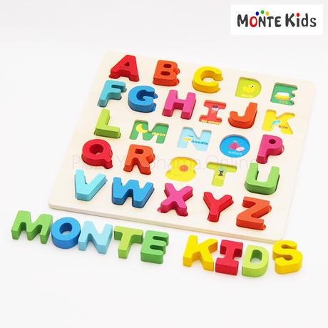 【MONTE Kids】MK-012  カラフル アルファベットBIGパズル  ≪OUTLET≫